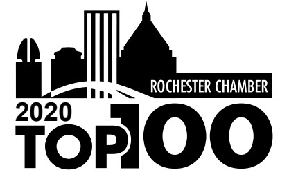Top 100 award logo with the Rochester skyline.