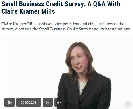 Click here to see the rest of the Federal Reserve survey data and a great video from the Federal Reserve's survey director, Claire Kramer Mills.