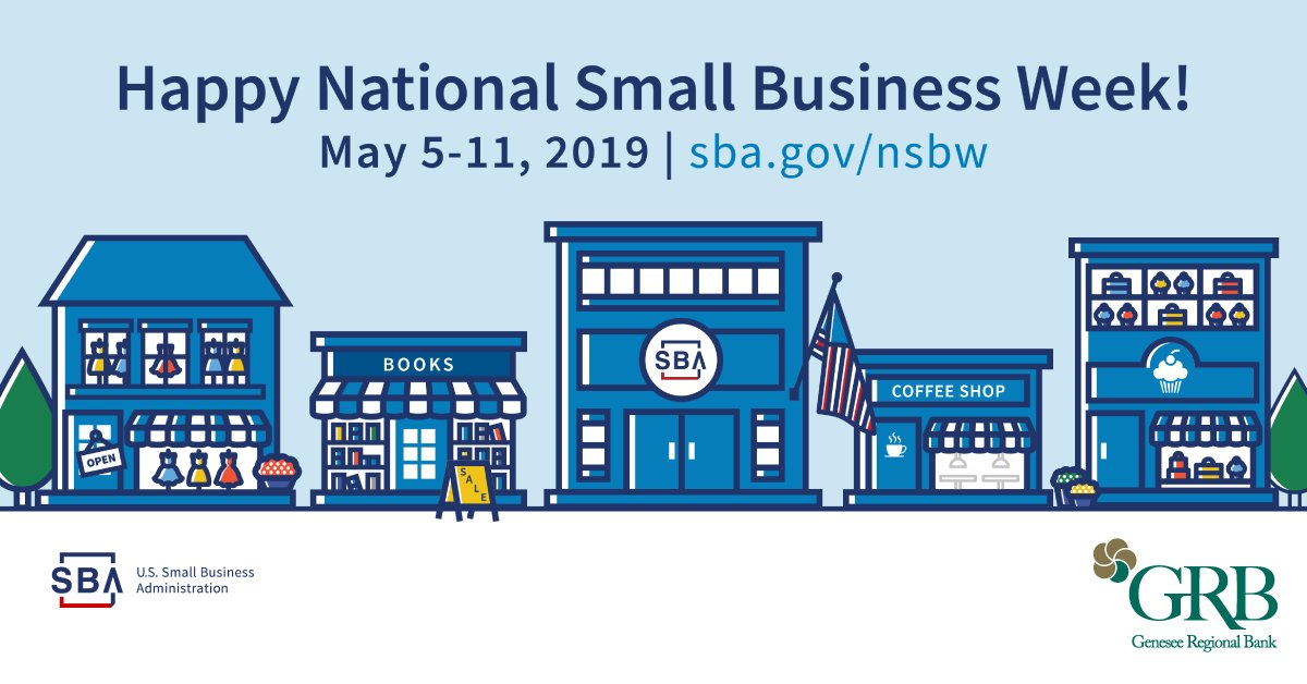 Happy National Small Business Week graphic