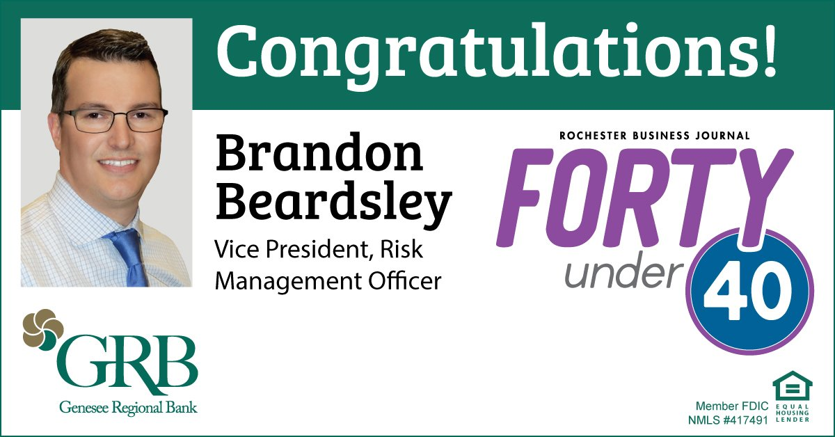 RBJ Brandon Beardsley 40 under 40 Announcement