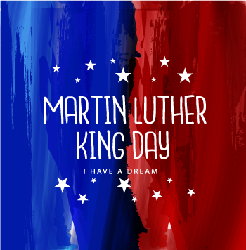 Graphic celebrating Martin Luther King Day