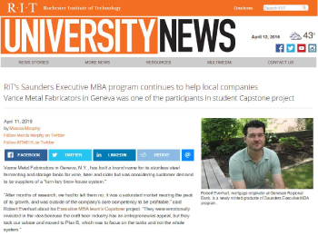 Click here to go to the Rochester Institute of Technology Web site featuring the full article on graduate and GRB Mortgage Originator Robert Everhart