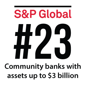 S&P logo with No. 23 ranking in text