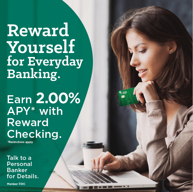 Reward checking account genesee regional bank GRB interest