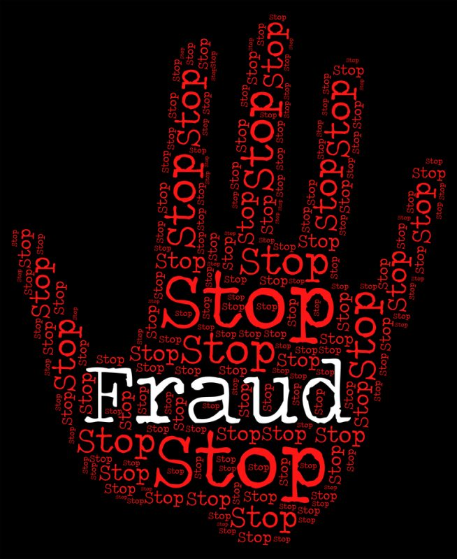 Illustration picturing fraud prevention