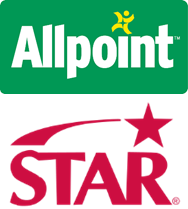 STAR and Allpoint logos stacked