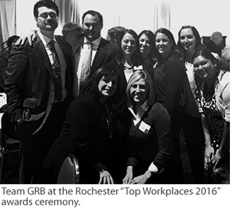 Photo of the GRB team attending the Top Workplaces awards ceremony