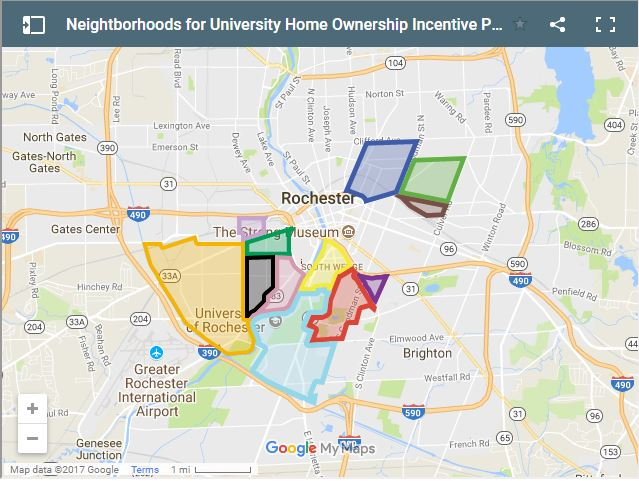 University of Rochester Home Mortgage 3 3 3 program map
