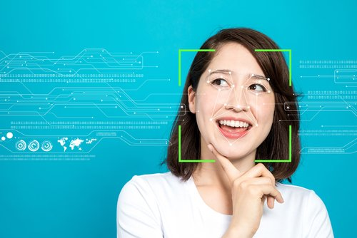 Photo illustration representing facial recognition technology