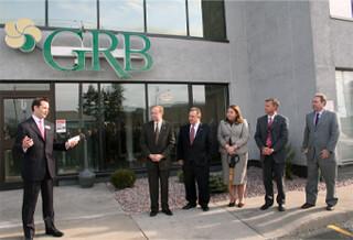 GRB Bank ribbon cutting