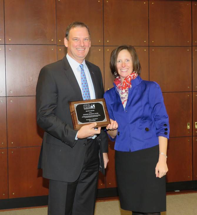 Dave Halladay accepts SBA Silver Award