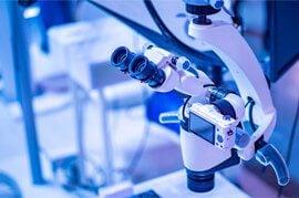 Photo of high-tech microscope